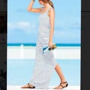 Victoria Secret ruched striped maxi dress